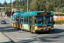 KC Metro bus, presumably in motion.